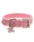 Pink Leather Diamante Collar